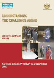 Handicap International experience in Afghanistan - CBM