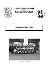 Gemeinde Windeck Jahresbericht 2004 - Feuerwehr Windeck