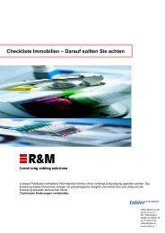 Checkliste Immobilien – Darauf sollten Sie achten - Tobler.ch