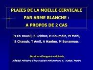 PLAIES DE LA MOELLE CERVICALE PAR ARME BLANCHE : A ...