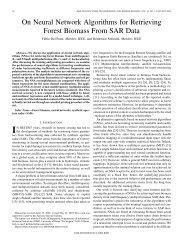 On Neural Network Algorithms for Retrieving Forest Biomass From ...