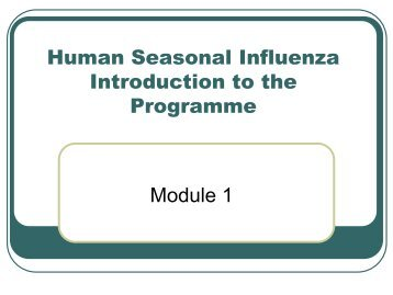 Introduction to Programme - Influenza Training Digital Library