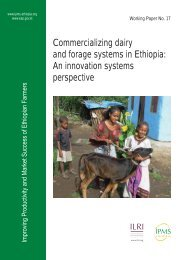 Commercializing dairy and forage systems in Ethiopia: An ... - cgiar