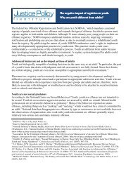 The negative impact of registries on youth - Justice Policy Institute