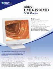 Sony LMD 1950MD - Quest International