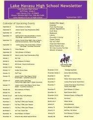 Lake Havasu High School Newsletter - Lake Havasu Unified School ...
