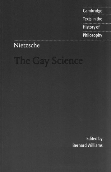 The Gay Science by Friedrich Nietzsche - HolyBooks.com
