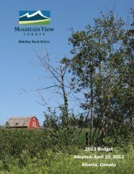 2013 Budget - Mountain View County