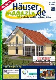 Unsere Highlights im Mai - Häusermagazin