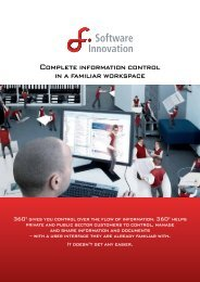 Complete information control in a familiar workspace - Software ...