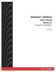 Jetstream JetVision User's Guide, Release 2.6