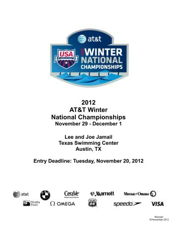 2012 AT&T Winter National Championships - USA Swimming