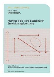 Methodologie transdisziplinärer Entwicklungsforschung