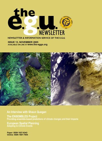 gNEWSLETTER - European Geosciences Union