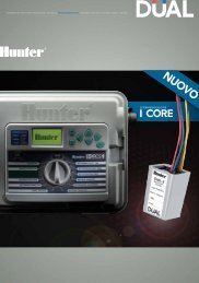 SISTEMA MONOCAVO PER - Hunter Industries