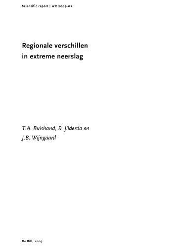 Regionale verschillen in extreme neerslag - Leven met Water ...