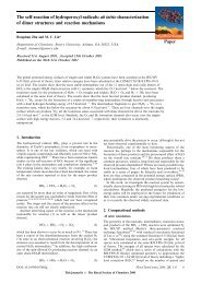 Paper The self-reaction of hydroperoxyl radicals - Chemistry - Emory ...