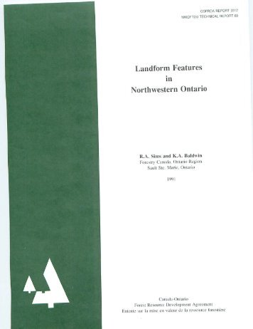 Landform Features in Northwestern Ontario - Sustainable Forests ...