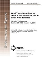 Wind Tunnel Aerodynamic Tests of Six Airfoils for Use on Small ...