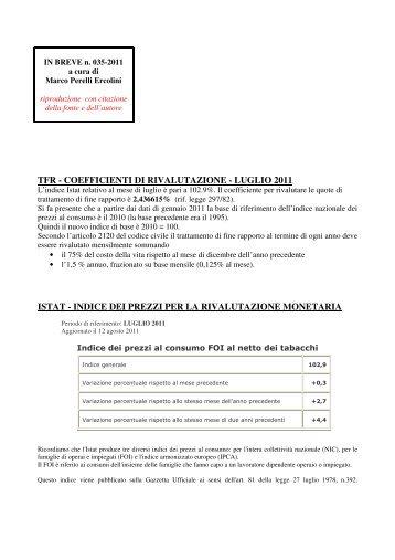 scarica le brevia num° 35 del 2011 - PERELLIERCOLINI.it