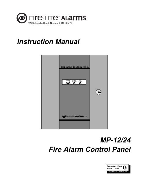 MP-12/24 Fire Alarm Control Panel Instruction ... - Fire ... on
