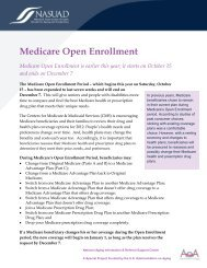 Medicare Open Enrollment - National Association of States United ...