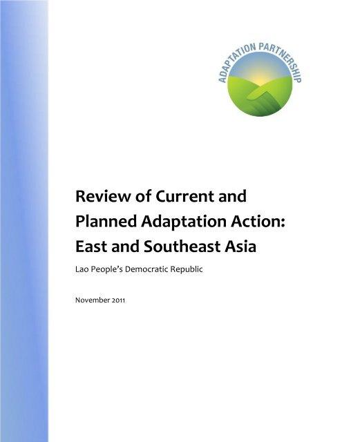 Lao People's Democratic Republic - Adaptation Partnership