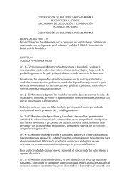 CODIFICACIÓN DE LA LEY DE SANIDAD ANIMAL H ... - VERTIC