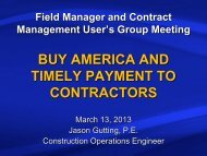 Jason Gutting - Buy America and Timely Payment to Contractors
