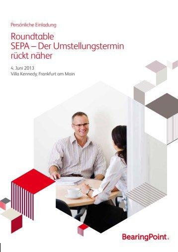 Roundtable SEPA – Der Umstellungstermin rückt näher