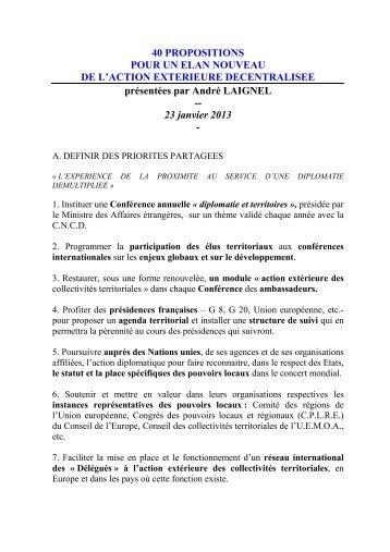 Nouvelles approches…Nouvelles ambitions - France-Diplomatie ...