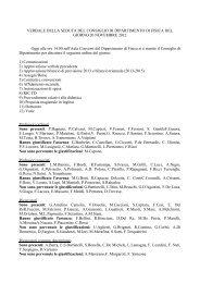 Riunione del 20 novembre - La Sapienza