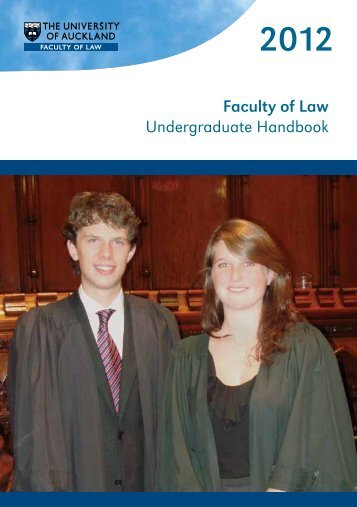 Faculty of Law Undergraduate Handbook - Faculty of Law - The ...