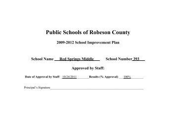 abc plan - Public Schools of Robeson County