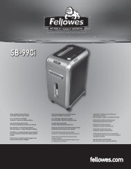 SB-99Ci Manual - Fellowes