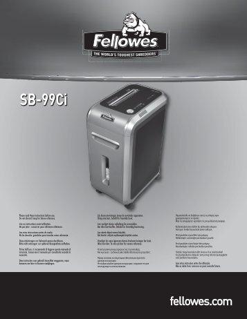 SB-99Ci Manual - Fellowes