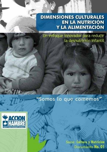 """""""Somos lo que comemos"""" - Acción Contra el Hambre"""