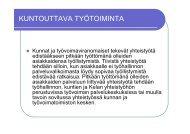 KUNTOUTTAVA TYÖTOIMINTA - Sininauhaliitto
