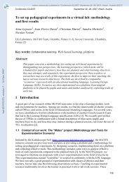 To set up pedagogical experiments in a virtual lab: methodology and ...