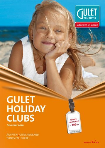 Gulet Holiday Clubs Sommer 2010 - Eximtur