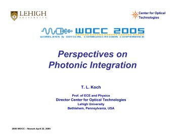 Perspectives on Photonic Integration
