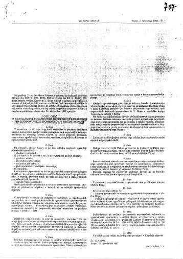 Uradni list RS 066/2010, Uredbeni del