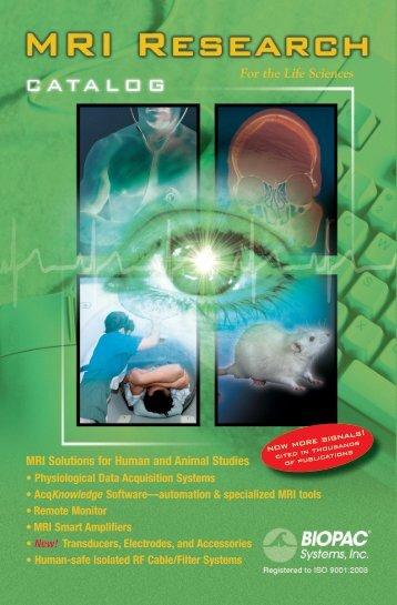 BIOPAC MRI catalog