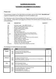 Stationery list grade 8 2012.pdf - Glenwood High School