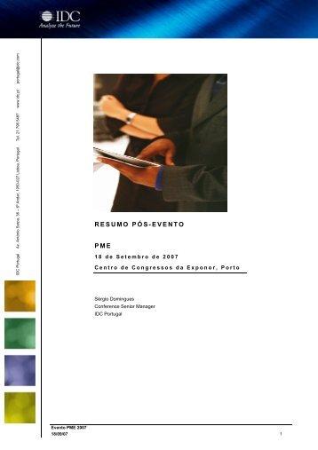 Consulte aqui o resumo deste evento - IDC Portugal