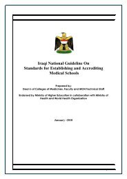 Iraqi National Guideline On Standards for Establishing and ...