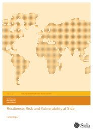 Resilience, Risk and Vulnerability at Sida