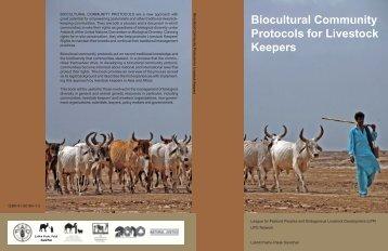 Biocultural Community Protocols for Livestock ... - Natural Justice