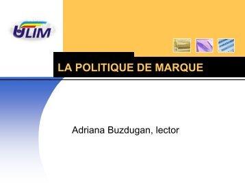 LA POLITIQUE DE MARQUE - Adriana Buzdugan's Blog