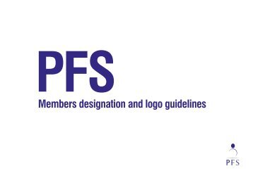Updated logo usage guidelines can be found on the PFS website